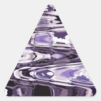 出口の紫色 三角形シール