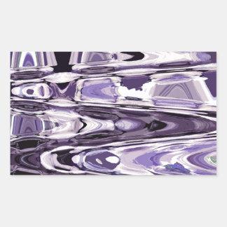 出口の紫色 長方形シール
