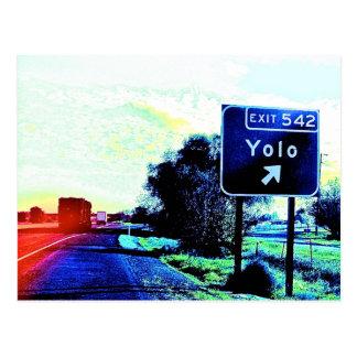 出口542 Yoloカリフォルニア ポストカード