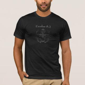 出国の8:2のカエル雨黒のTシャツ Tシャツ