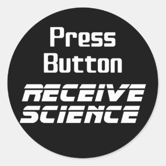 出版物ボタンは科学のステッカーを受け取ります ラウンドシール