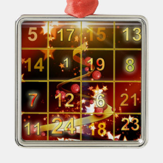 出現のカレンダーのドアの金クリスマス メタルオーナメント