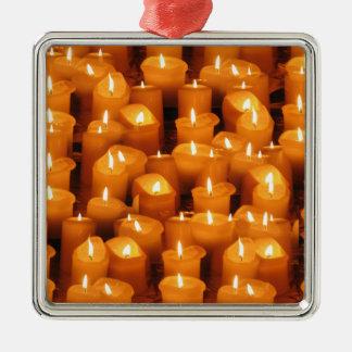出現のクリスマスの蝋燭 メタルオーナメント