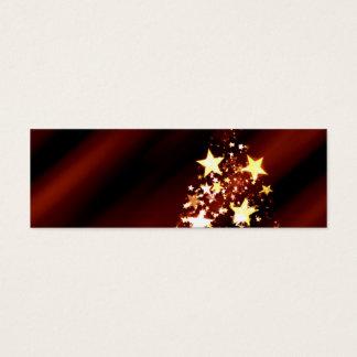 出現の星のクリスマスのクリスマスツリーのポインセチア スキニー名刺
