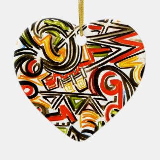 出現の蝶-手塗り抽象美術 セラミックオーナメント
