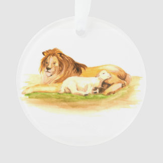 出現のJesseの木のライオンおよび子ヒツジ オーナメント