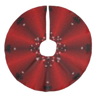 出現、赤い虹のクリスマスArtdeco フェイクリネンツリースカート