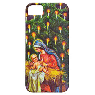 出生およびクリスマスツリー iPhone SE/5/5s ケース