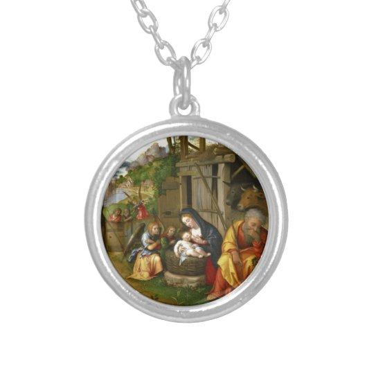 出生および子供の天使c1515 シルバープレートネックレス