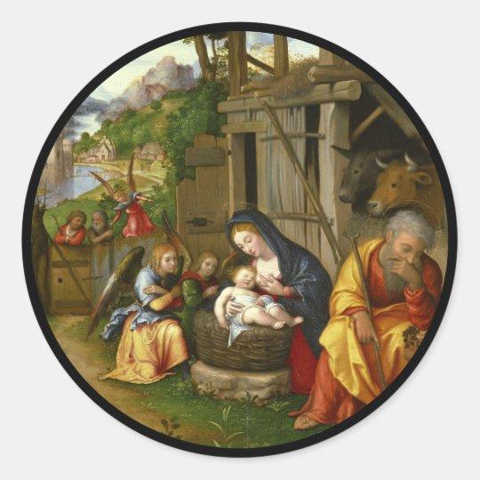 出生および子供の天使c1515 ラウンドシール