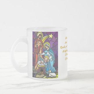 出生のクリスマスのマグ フロストグラスマグカップ