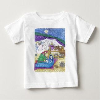 出生のクリスマス ベビーTシャツ