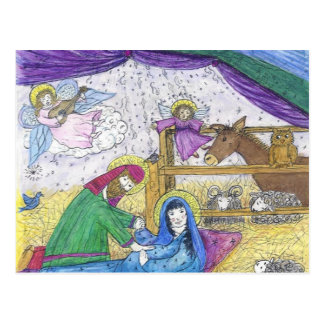 出生のクリスマス ポストカード