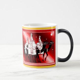 出生のシルエットの赤 モーフィングマグカップ