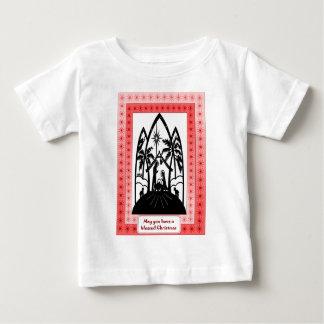 出生のシルエット ベビーTシャツ