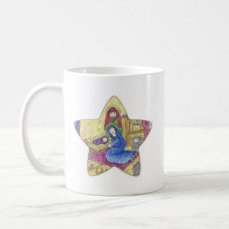 出生の星のクリスマスのマグ コーヒーマグカップ