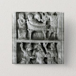 出生の石棺 5.1CM 正方形バッジ