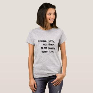 出生地の地球のワイシャツ Tシャツ