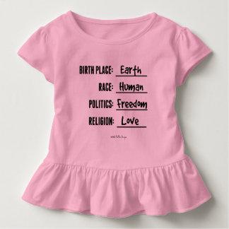 出生地の地球の幼児のひだのティー トドラーTシャツ