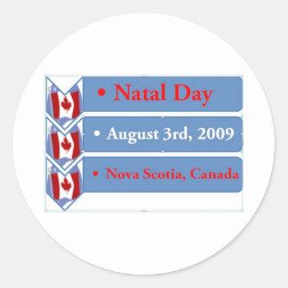 出生日、威厳があるな第3 2009年、ノバスコシア、カナダ ラウンドシール