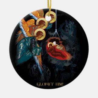 出生-ギリシャ正教のクリスマスのオーナメント セラミックオーナメント