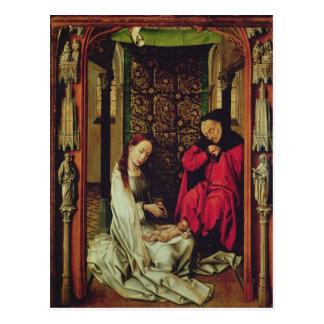 出生、トリプティクの左の翼、c.1496 ポストカード