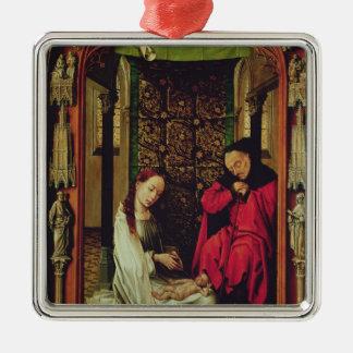 出生、トリプティクの左の翼、c.1496 メタルオーナメント