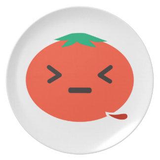 出血のトマト プレート