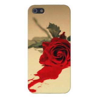 出血の赤いバラのiPhone 5/5sの箱 iPhone 5 カバー