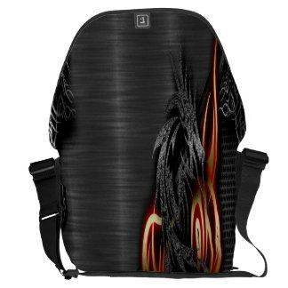 分光ドラゴンの大きいメッセンジャーバッグの外プリント メッセンジャーバッグ