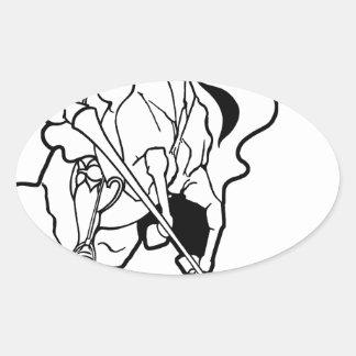 分光騎士 楕円形シール