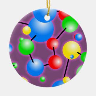 分子の壁紙 セラミックオーナメント