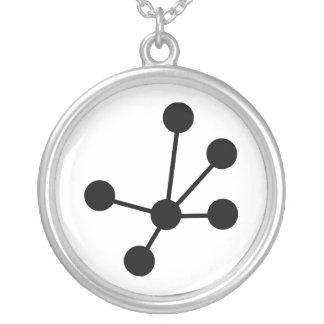 分子 シルバープレートネックレス
