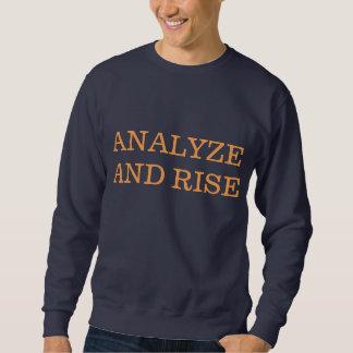 分析し、上がって下さい スウェットシャツ
