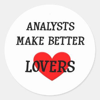 分析者はよりよい恋人を作ります ラウンドシール