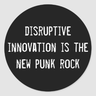 分裂的な革新は新しいパンクロックです ラウンドシール