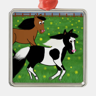 分野で走っている漫画の馬 メタルオーナメント