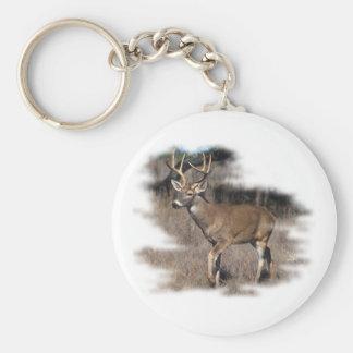 分野のオジロ鹿シカ キーホルダー