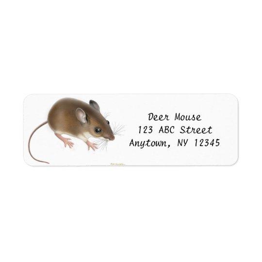 分野のシロアシマウスのカスタマイズ可能なAveryのラベル 返信用宛名ラベル