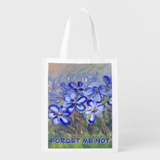 分野のファインアートの絵画の青い野生の花 エコバッグ