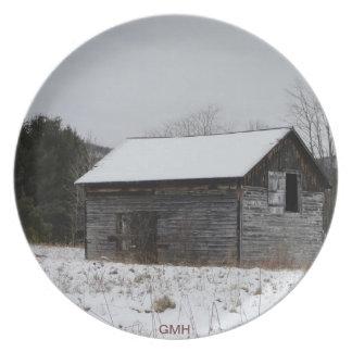 分野のプレートの古い納屋 プレート