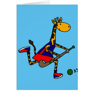 分野のホッケーを遊んでいるおもしろいなキリン カード