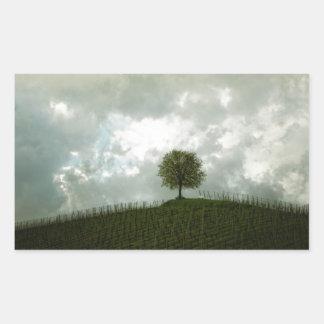 分野の不気味な木 長方形シール