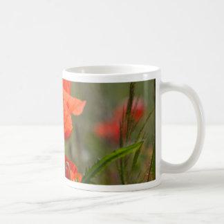 分野の共通のケシの花 コーヒーマグカップ