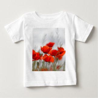分野の共通のケシの花 ベビーTシャツ