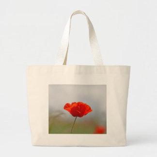 分野の共通のケシの花 ラージトートバッグ