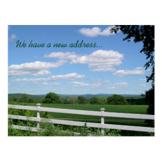 分野の塀の田園生きている新しい住所 ポストカード
