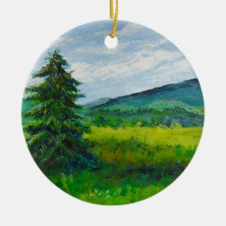 分野の常緑樹、アクリルの絵画 セラミックオーナメント