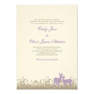 分野の結婚式招待状のシカ カード