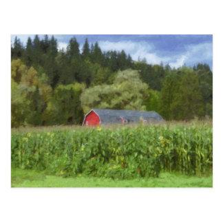 分野の赤い納屋 ポストカード